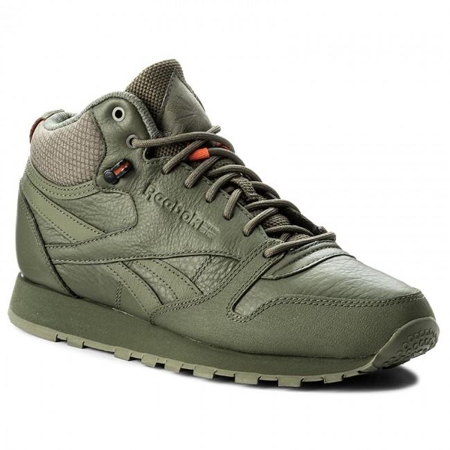 75e418f7e340 Shoes Reebok - Cl Leather Mid Twd BS8327 Hunter Green Stone Grey ...