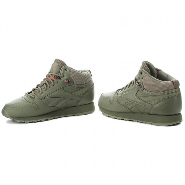 738b18e2915 Shoes Reebok - Cl Leather Mid Twd BS8327 Hunter Green Stone Grey ...