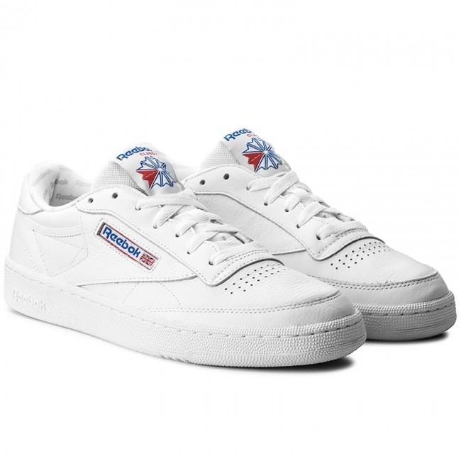 Antecedente tormenta Stratford on Avon  Shoes Reebok - Club C 85 S0 BS5214 White/Lgh Solid Grey/Blue - Sneakers -  Low shoes - Men's shoes | efootwear.eu