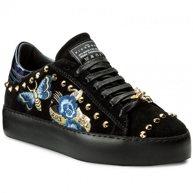 Low Black Shoes B 3307 John Richmond Sneakers WYE9I2DH