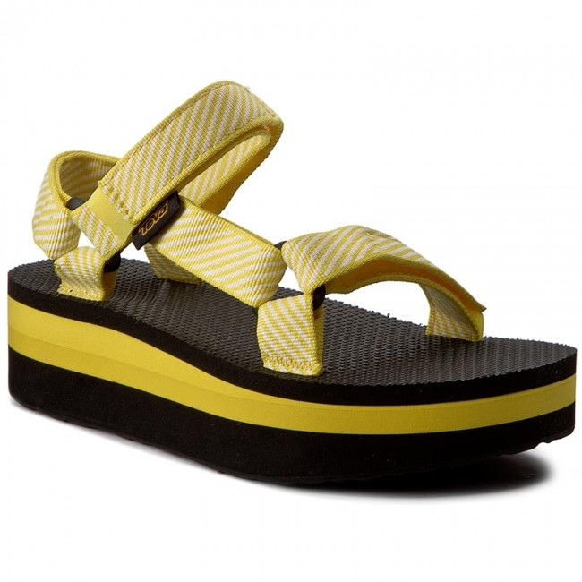 ac047d76faa Sandals TEVA - Flatform Universal 1008844 Candy Stripe Yellow ...