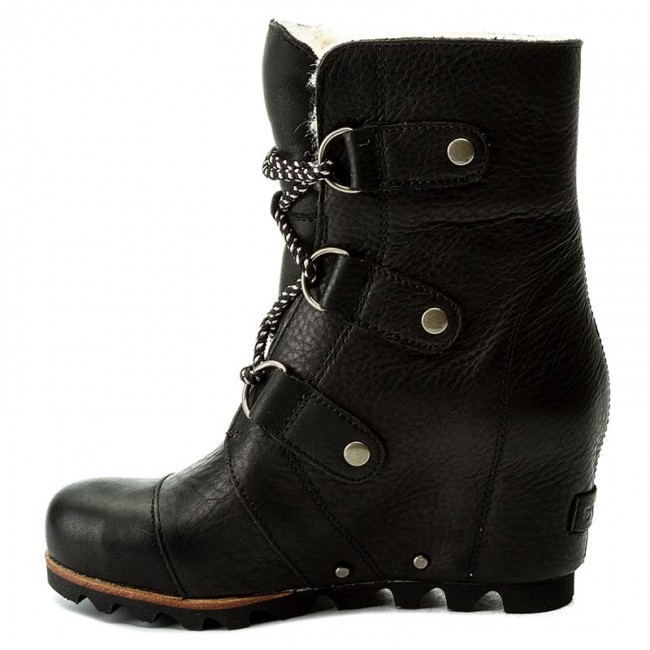 2b1098accc1 Boots SOREL. Joan Of Arctic Wedge Mid Shearling NL2703 Black Ancient Fossil