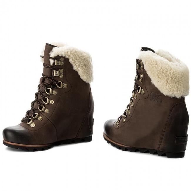 02fc7f5e291 Boots SOREL - Conquest Wedge Shearling NL2699 Tobacco Black 256 ...
