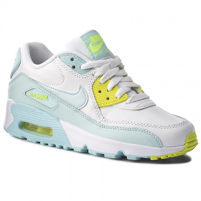 brand new 9b543 0d864 ... ebay shoes nike air max 90 ltr gs 833376 100 white glacier blue 2bbbc  7f678 ...