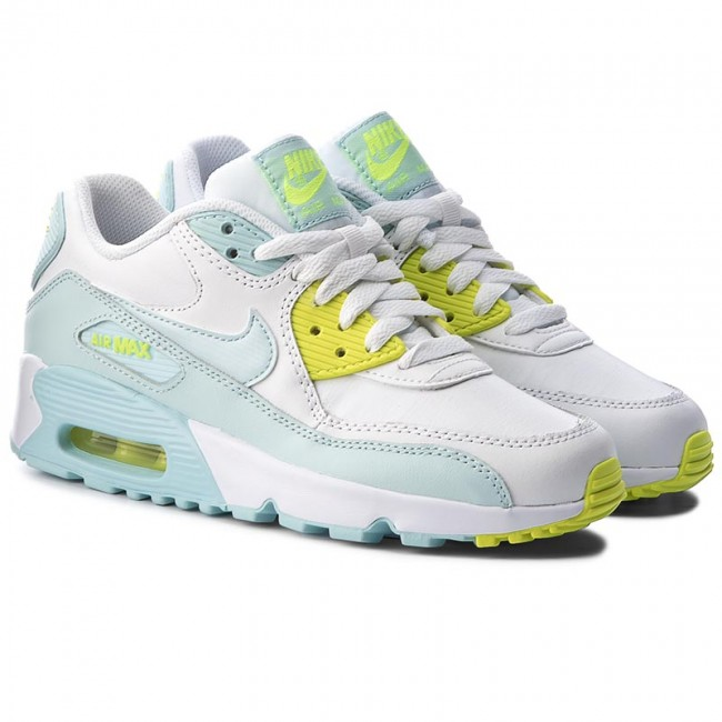 finest selection 25621 2b030 ... Shoes NIKE - Air Max 90 Ltr (GS) 833376 100 White Glacier Blue ...