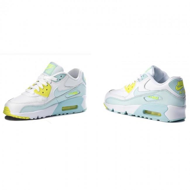 sports shoes b271d b2b0e Shoes NIKE - Air Max 90 Ltr (GS) 833376 100 White  Glacier Blue