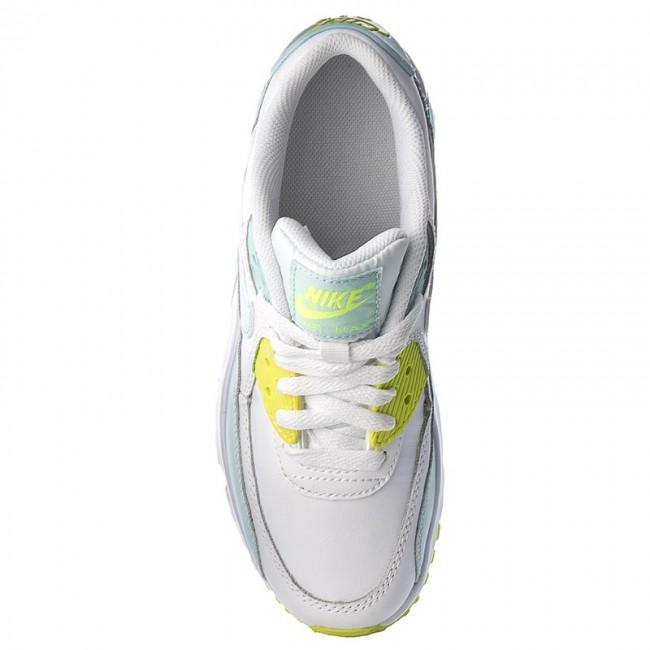 best website 401ed 47c85 Shoes NIKE - Air Max 90 Ltr (GS) 833376 100 White  Glacier Blue Volt -  Sneakers - Low shoes - Women s shoes - www.efootwear.eu
