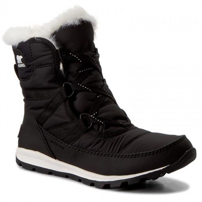 35afcfcf92 Snow Boots SOREL - Youth Whitney Short Lace NY1897 Black/Sea Salt ...
