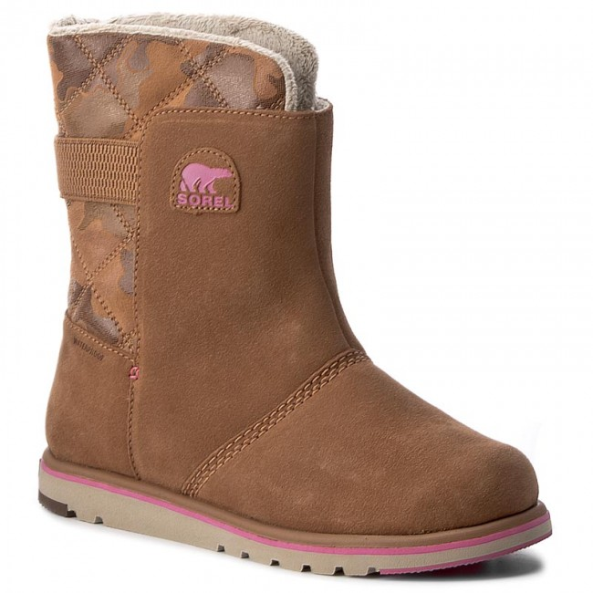 2d7f0d146c21 Shoes SOREL - Youth Rylee Camo NY1900 Elk Pink Ice 286 - Winter ...