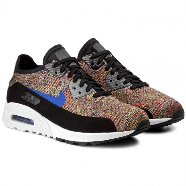 0071bf67a1 Shoes NIKE. Air Max 90 Ultra 2.0 Flyknit 881109 001 Black/Medium Blue/Cool  Grey