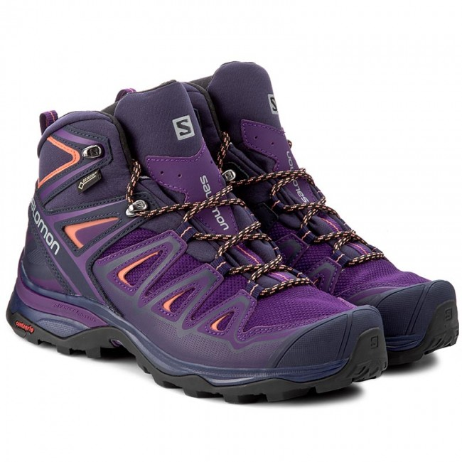 Like New! Salomon X Ultra 3 GTX Mid Acai & Coral