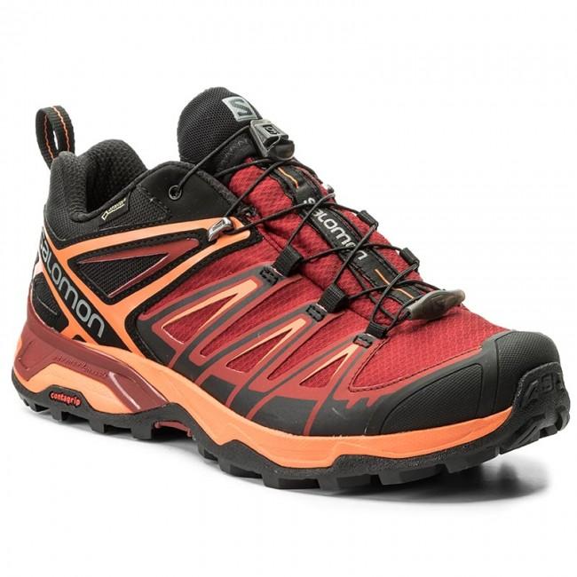 Trekker Boots SALOMON - X Ultra 3 Gtx GORE-TEX 398670 Black Red ... b722f6ef8a70
