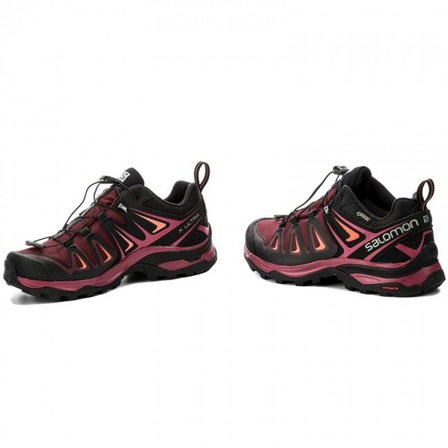 dcf9ed5f Trekker Boots SALOMON - X Ultra 3 Gtx W GORE-TEX 398681 20 V0 Tawny  Port/Black/Living Coral
