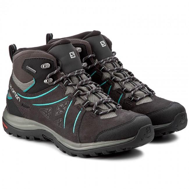 Trekker Boots SALOMON Ellipse 2 Mid Ltr Gtx W GORE TEX 394735 25 V0 PhantomCastor GrayAruba Blue