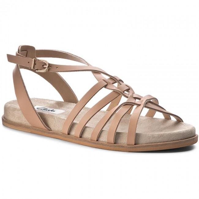 c255e3d72594 Sandals CLARKS - Agean Art 261230454 Nude Leather - Casual sandals ...