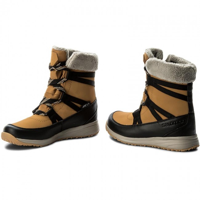 e0e4599ef8d0 Snow Boots SALOMON - Heika Ltr Cs Wp 394522 20 V0 Camel Gold Ltr Black