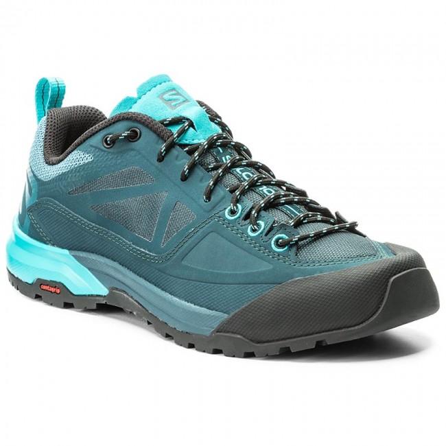Trekker Boots SALOMON  X Alp Spry W 398602 20 V0 Mallard BlueReflecting PondBlue Bird  Trekker boots  Low shoes  Womens shoes       0000199882050
