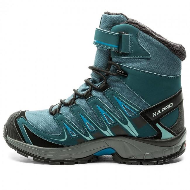 7a17b98c752d Snow Boots SALOMON - Xa Pro 3D Winter Ts Cswp J 398458 10 M0 Mallard Blue Reflecting  Pond Mykonos Blue - Trekker boots - High boots and others - Girl ...