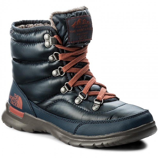 Snow Boots THE NORTH FACE - Thermoball Lace II T92T5LYWW Shiny Ink  Blue EtruscanRed 2c54d9f454