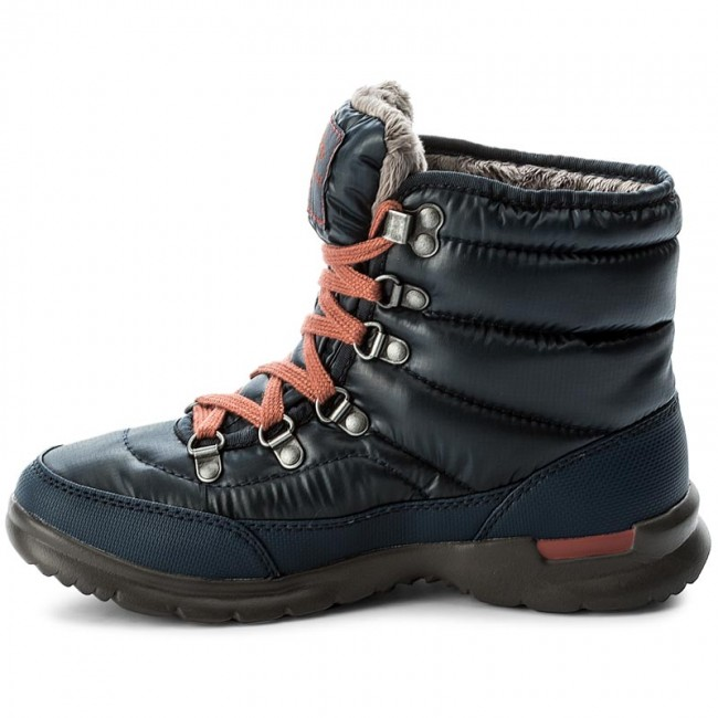 Snow Boots THE NORTH FACE - Thermoball Lace II T92T5LYWW Shiny Ink  Blue EtruscanRed - Winter boots - High boots and others - Women s shoes -  www.efootwear. ... 4f3cf8a412