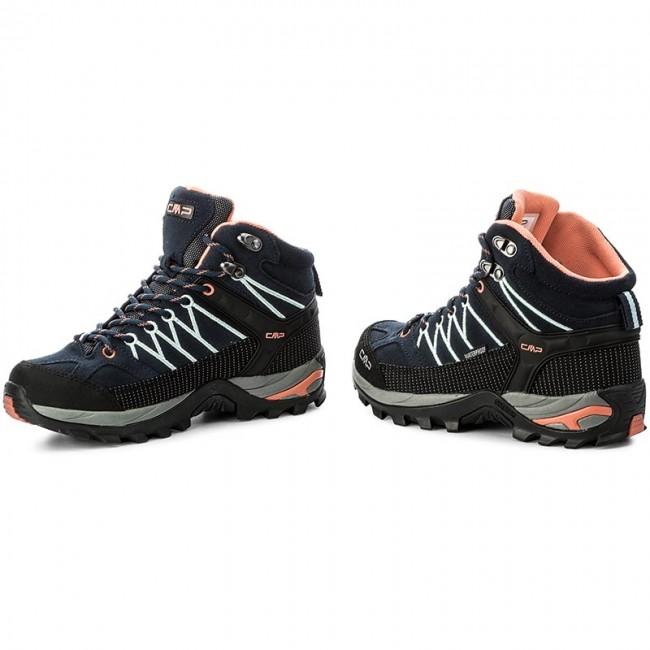 CMPRIGEL MID SHOES WP - Walking boots - blue/giada/peach Ozy2gc03n