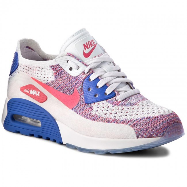 d744951fec16 Shoes NIKE. W Air Max 90 Ultra 2.0 Flyknit 881109 103 White Racer Pink Medium  Blue
