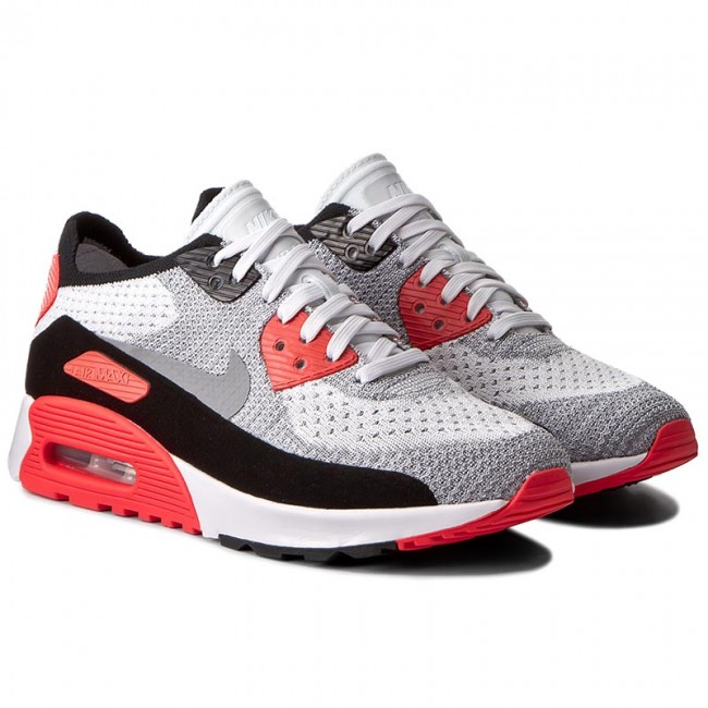 best sneakers 3229d 332bd Shoes NIKE. W Air Max 90 Ultra 2.0 Flyknit 881109 100 White Wolf Grey Bright  Crimson