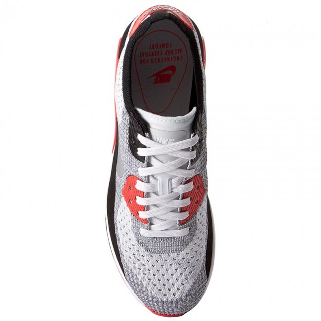 Shoes NIKE W Air Max 90 Ultra 2.0 Flyknit 881109 100 WhiteWolf GreyBright Crimson