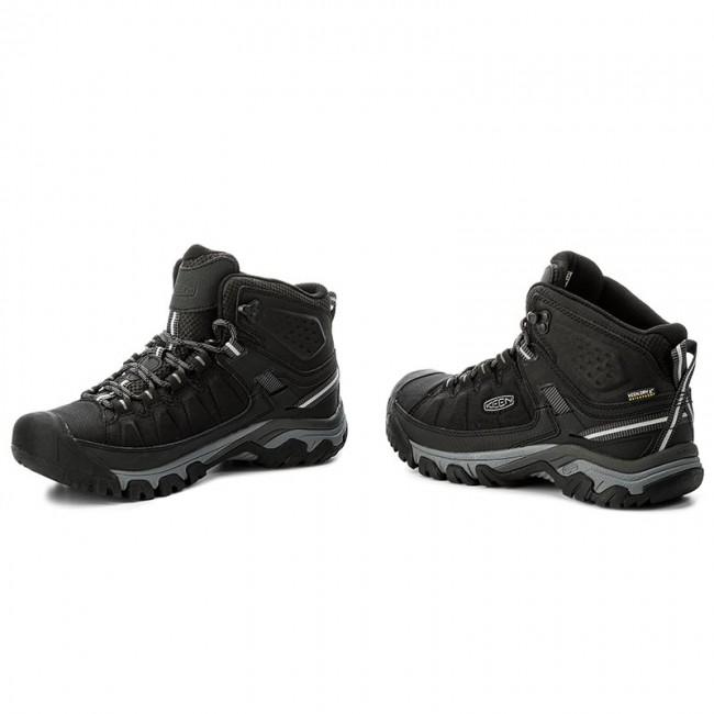 =CodE= KEEN TARGHEE MID WP 防水皮革戶外登山鞋(黑灰)1017715 WATERPROOF 男