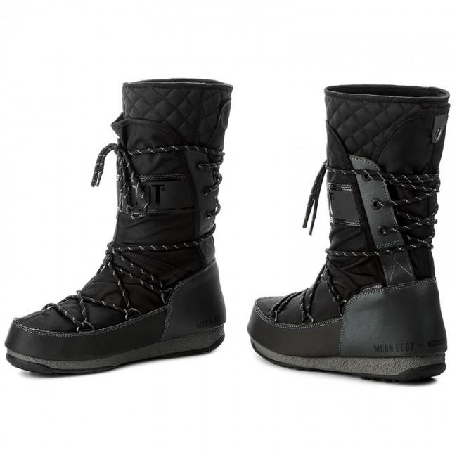 Snow Boots MOON BOOT - W.E Monaco Flip Wp 24007300002 Nero Canna ... baf7c143b25