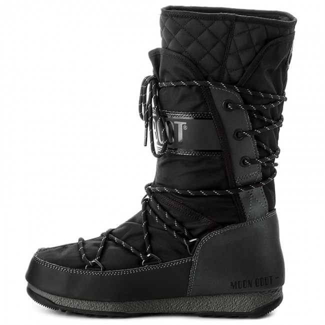 Snow Boots MOON BOOT - W.E Monaco Flip Wp 24007300002 Nero Canna - Winter  boots - High boots and others - Women s shoes - www.efootwear.eu 583e8b336ec