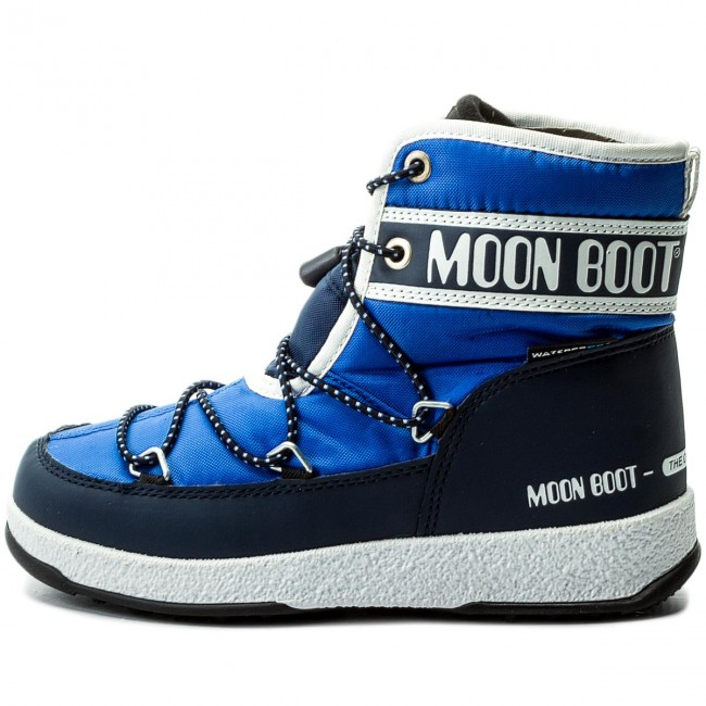 e84696af0903 Snow Boots MOON BOOT - Jr Mid Wp 34051200002 Royal Navy - Winter boots -  High boots and others - Boy - Kids  shoes - www.efootwear.eu