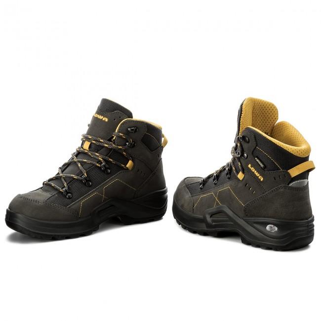 Trekker Boots LOWA - Kody III Gtx Mid Junior GORE-TEX 350099  Anthracite Yellow 0e011ee65d4