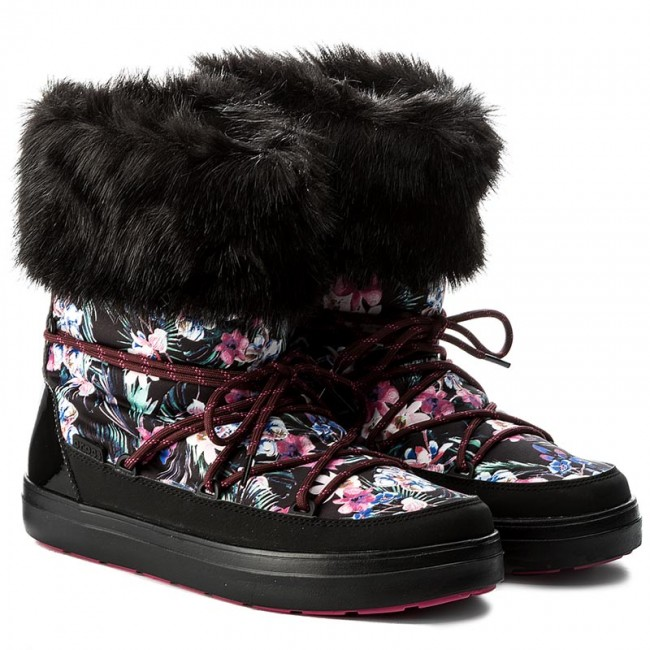 e12d3274477 Snow Boots CROCS - Lodgepoint Graphic Lace Boot 204791 Tropical Black -  Winter boots - High boots and others - Women s shoes - www.efootwear.eu
