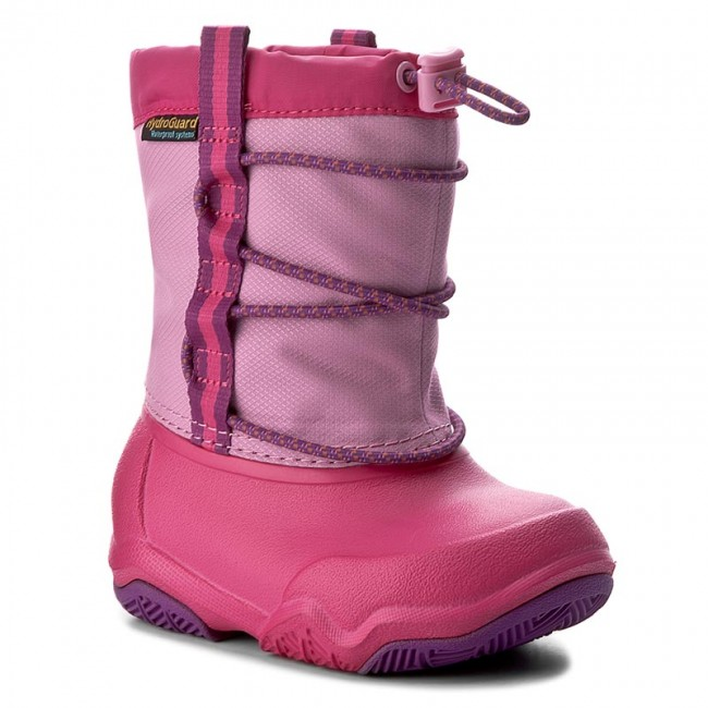 be4a7e1160cc74 Snow Boots CROCS - Swiftwater Waterproof Boot K 204657 Party Pink Candy Pink