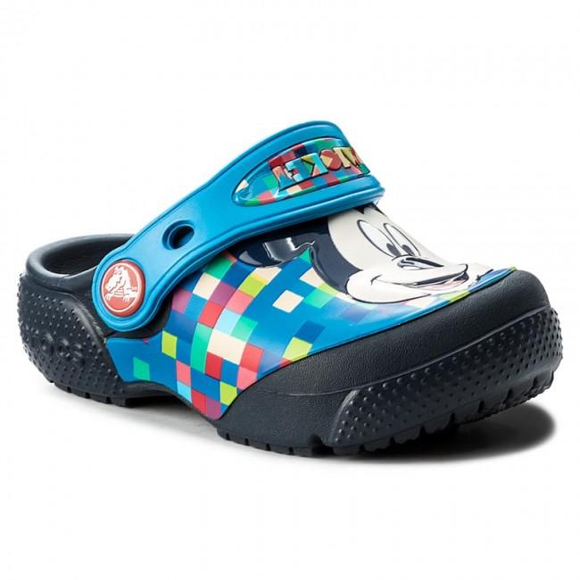 637194f27 Slides CROCS - Funlab Mickey Clog 204708 Navy - Clogs and mules ...