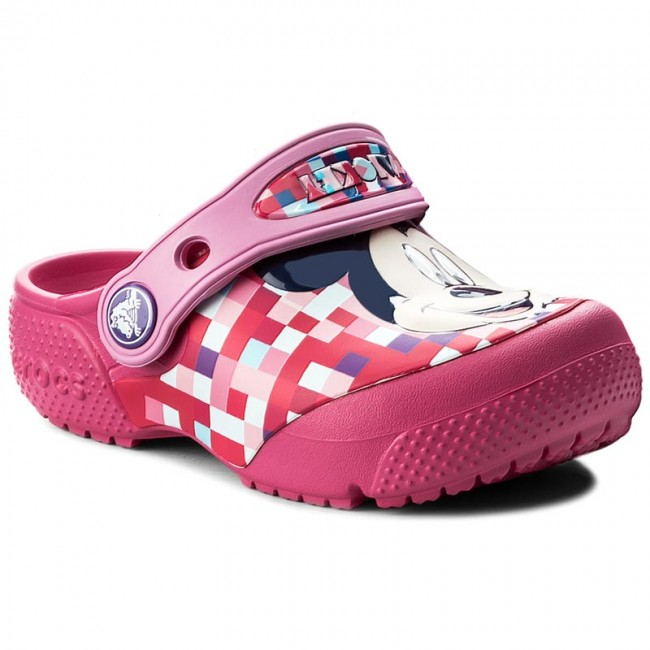 1fb8601ad Slides CROCS - Funlab Mickey Clog 204708 Candy Pink - Clogs and ...