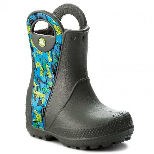 Wellingtons CROCS - Handle It Graphic Boot K 204839 Slate Grey
