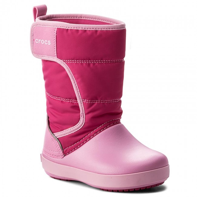 01a1fd375173d3 Snow Boots CROCS - Lodgepoint Snow Boot K 204660 Candy Pink Patry ...