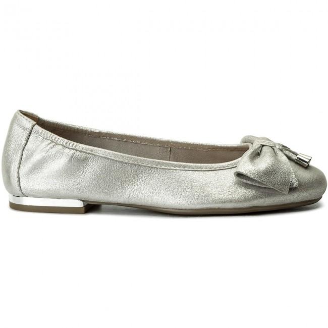 Flats CAPRICE - 9-22111-20 Silver Metal 920