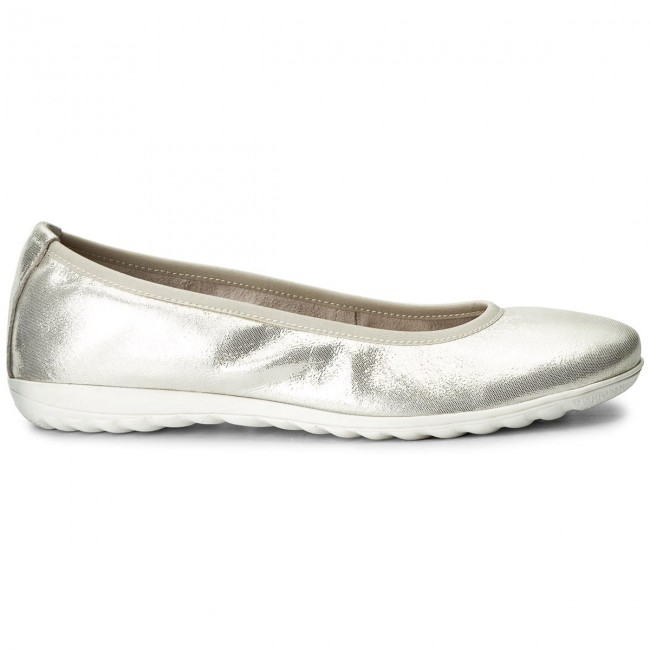 Ballerinas CAPRICE - 9-22142-20 Offwht Glitter 112 sNasDge6NG