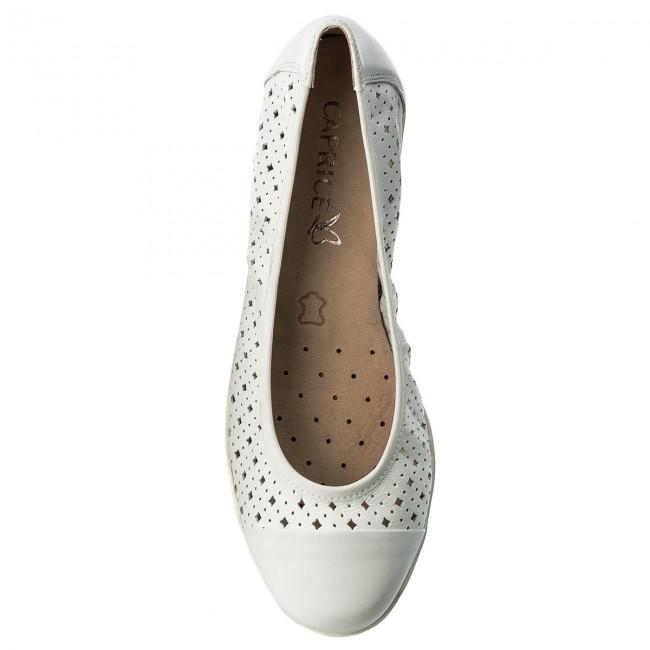 Flats CAPRICE - 9-22151-20 White Nappa 102
