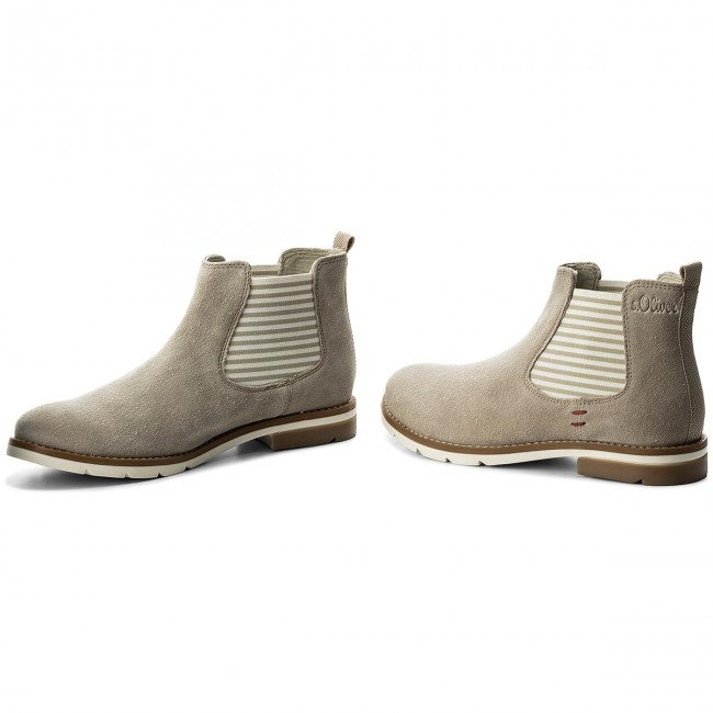 44d70e3c856aea Ankle Boots S.OLIVER - 5-25335-30 Champagner 404 - Elastic-sides ...