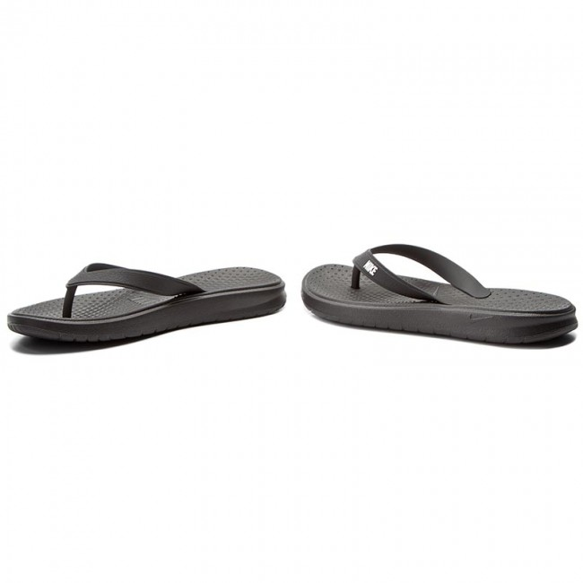 199cd29a155c Slides NIKE - Solay Thong 882690 005 Black White Black - Flip-flops ...