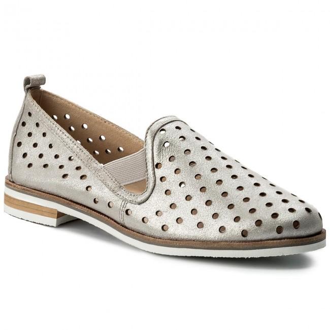 fd4e3e75a443 Shoes CAPRICE - 9-24500-20 Silver Metal 920 - Flats - Low shoes ...