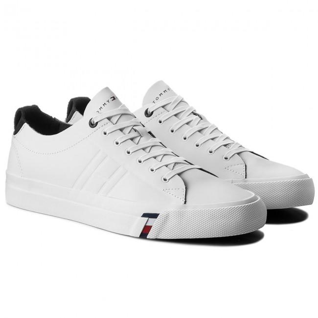 91711f19daf0db Plimsolls TOMMY HILFIGER - Dino 1A FM0FM01214 White 100 - Plimsolls - Low  shoes - Men s shoes - www.efootwear.eu