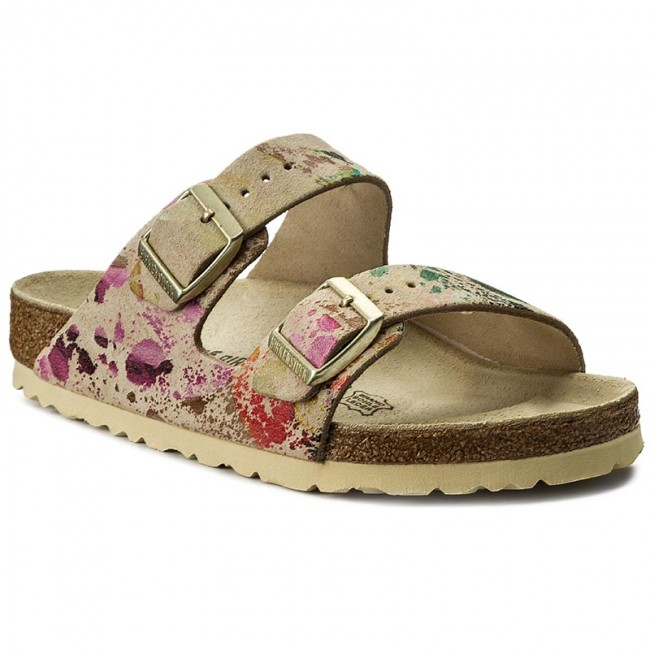75bfd4c6f185a3 Slides BIRKENSTOCK - Arizona 652801 Flower Crush Beige - Casual ...