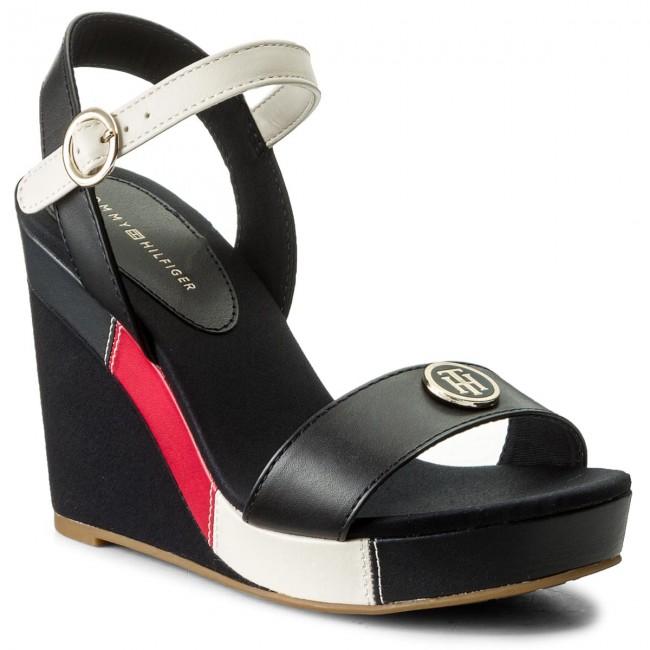 4307aee25322 Sandals TOMMY HILFIGER - Int Elena 60Y FW0FW02099 RWB 020 - Wedges ...