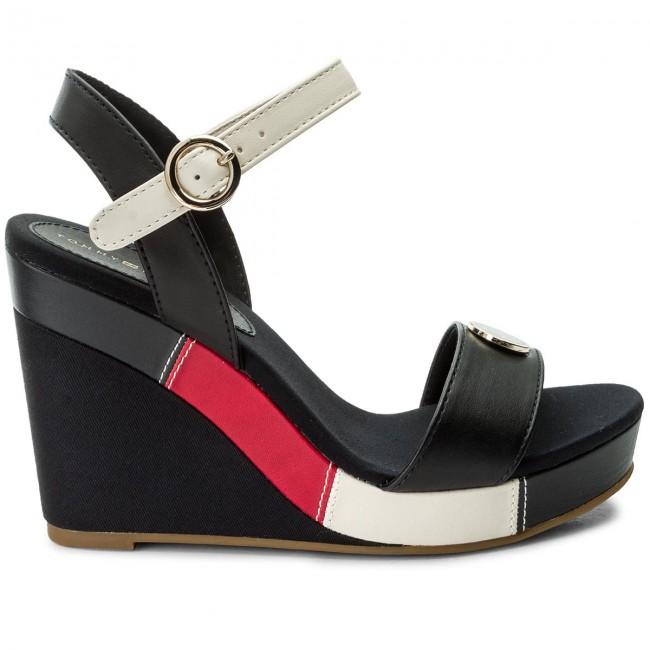 cda69ed11f49 Sandals TOMMY HILFIGER - Int Elena 60Y FW0FW02099 RWB 020 - Wedges - Mules  and sandals - Women s shoes - www.efootwear.eu