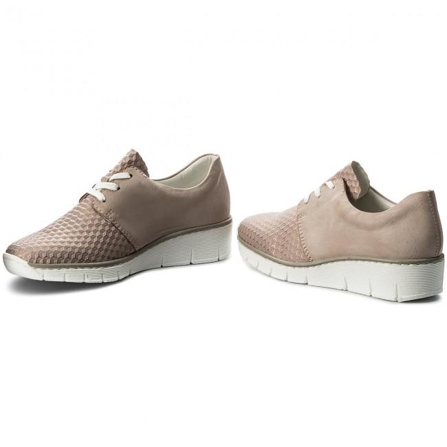 Heeled Low 31 White Rieker 53729 Combination Shoes Wedge WUwqAZYgC